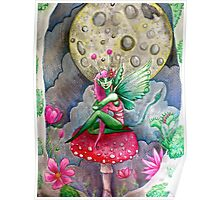 magic mushrooms & fairy forest  Poster