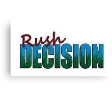 Rush Decision Blue Sky Grass Canvas Print