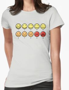 Scale of 1-10 Womens Fitted T-Shirt