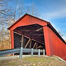 Edna Collings Covered Bridge in Indiana by Kenneth Keifer