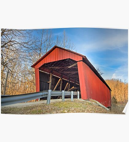 Edna Collings Covered Bridge in Indiana Poster