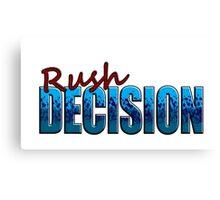 Rush Decision Blue Spatter Canvas Print