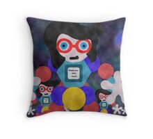Impersonator Robots Throw Pillow