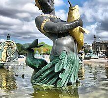 Paris - statue of a Concorde Square Fountain... by jean-louis bouzou