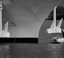 Two men and a dingy by Garry Schlatter
