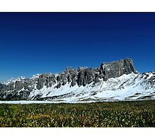 Snowy Mountain Rocks, HD Photograph Photographic Print
