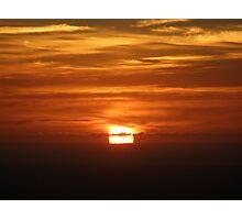 Sliced sunset Photographic Print