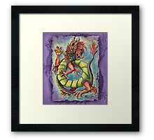Chinese Dragon WaterColor  Framed Print