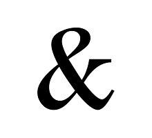 Ampersand Symbol by Haley Marshall