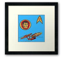 Spock Star Trek Costume from 1975 (yes, really) Framed Print