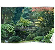 Autumn Colors at Japanese Garden Poster