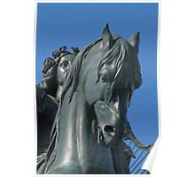 Winged Horse Statue Detail Poster