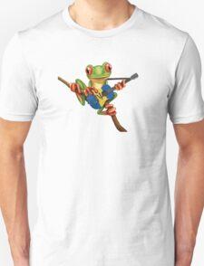 Tree Frog Playing Barbados Guitar Unisex T-Shirt