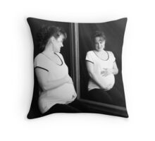 Reflecting Expectancy Throw Pillow