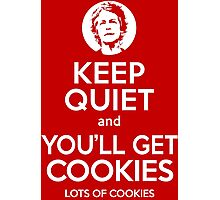 Keep Quiet, and You'll Get Cookies. Lots of cookies. Photographic Print