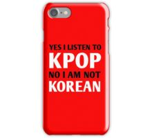 I LISTEN TO KPOP - RED iPhone Case/Skin