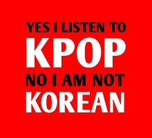 I LISTEN TO KPOP - RED by Kpop Seoul Shop