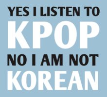 I LISTEN TO KPOP - RED One Piece - Short Sleeve