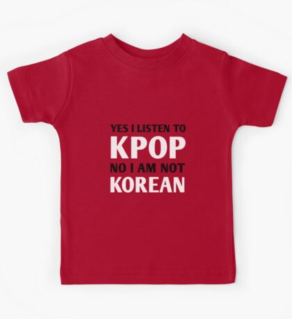 I LISTEN TO KPOP - RED Kids Tee