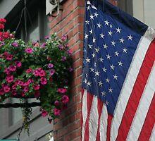 U.S. Flag by Laddie Halupa