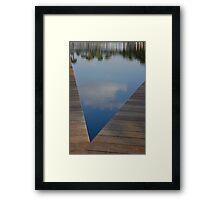 Blue V Framed Print