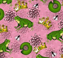 Frog Prince with Crown Pattern + Lily Pads by janelledimmett