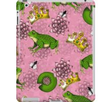 Frog Prince with Crown Pattern + Lily Pads iPad Case/Skin