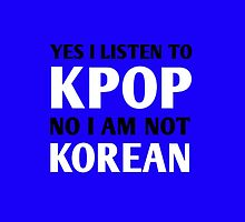 I LISTEN TO KPOP - BLUE by Kpop Seoul Shop