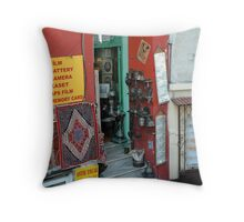 TURKISH CONVENIENCE/ANTIQUE/GIFT STORE, ISTANBUL, TURKEY Throw Pillow