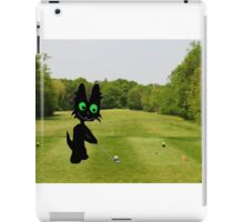 Cat Teeing Off iPad Case/Skin