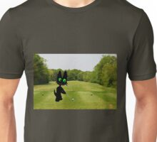 Cat Teeing Off Unisex T-Shirt
