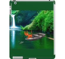 Cat at A Lake Fishing iPad Case/Skin