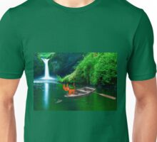 Cat at A Lake Fishing Unisex T-Shirt