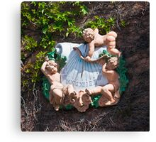 Bacchus Sundial with Cherubs, Viansa Winery, California Canvas Print
