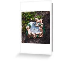 Bacchus Sundial with Cherubs, Viansa Winery, California Greeting Card