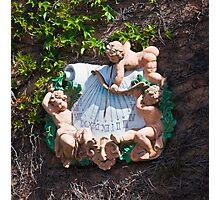 Bacchus Sundial with Cherubs, Viansa Winery, California Photographic Print