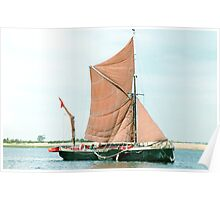 Small Thames Barge Poster