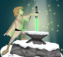 The Saber In The Stone by SamSteinDesigns