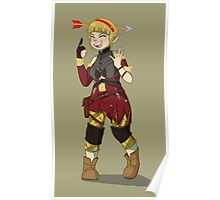 Sera Laughing Alone With Arrow Headband Poster