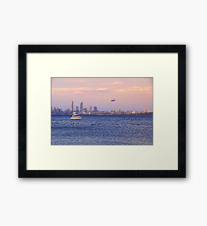Perth City - Australia Day  Framed Print