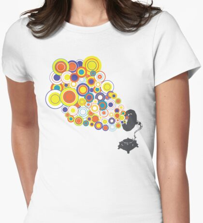 Gramophone Circles Womens Fitted T-Shirt