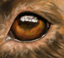 Eye of the Dog - Close-Up Painting of Pit Bull's Eye Sticker