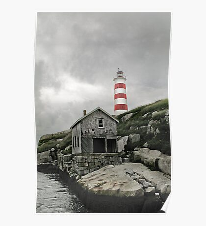 Abandoned - The Sambro Island Lighthouse Poster