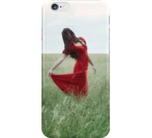 red lady iPhone Case/Skin