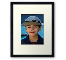 Portrait Of A Son Framed Print