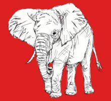 Lone Elephant One Piece - Short Sleeve