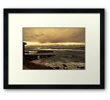 Rough Seas and Sunset Framed Print