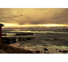 Rough Seas and Sunset Photographic Print