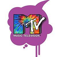 MTV tie dye logo by purplehayes