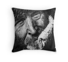 Years on the Face Throw Pillow
